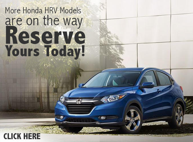 Reserve your Honda HR-V today