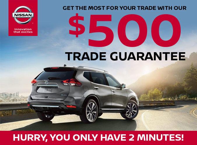 $500 Trade Guarantee!