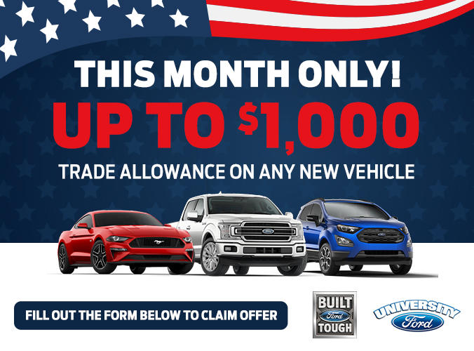 Up to $1,000 Trade Allowance on any new car