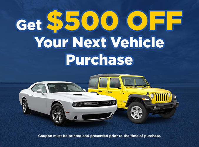Get $500 Off Your Next Vehicle Purchase