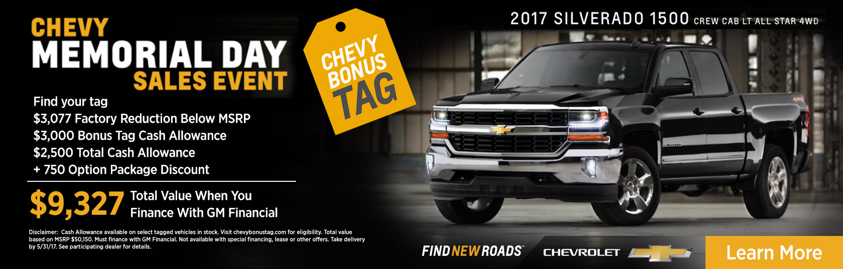 Memorial Day Car Sales 2017 >> Chevy Memorial Day Sales Event