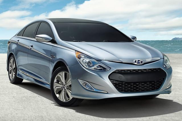 2014 Hyundai Sonata Hybrid LIMITED 4dr Car Slide 0