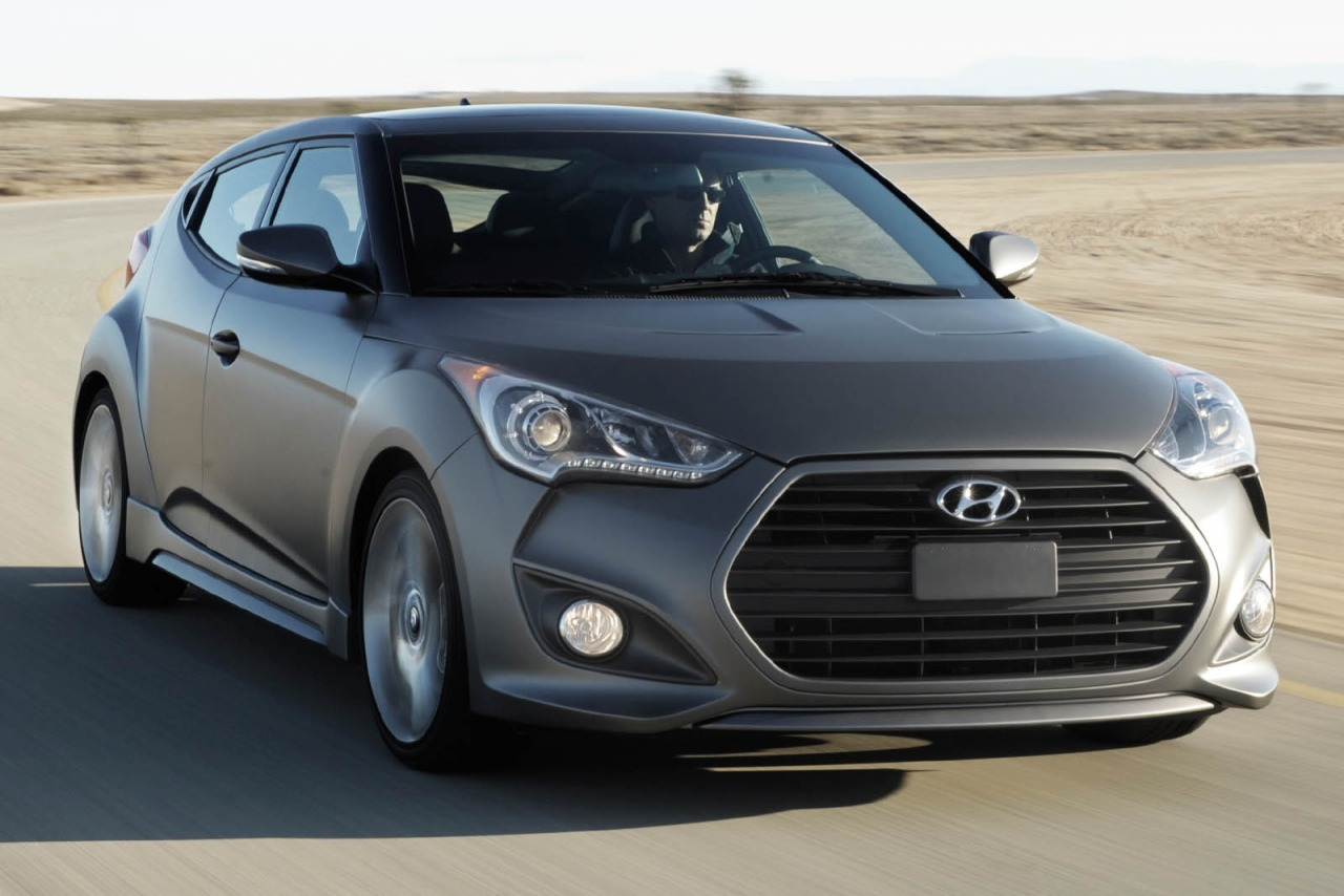 2013 Hyundai Veloster W/GRAY INT 3dr Car Slide 0