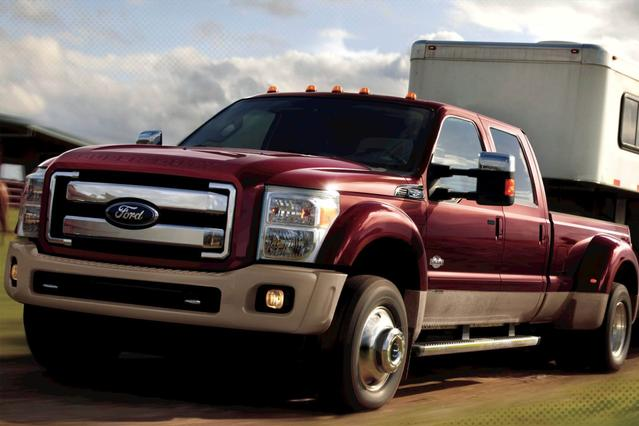 2012 Ford Super Duty F-350 SRW LARIAT Extended Cab Pickup Slide 0
