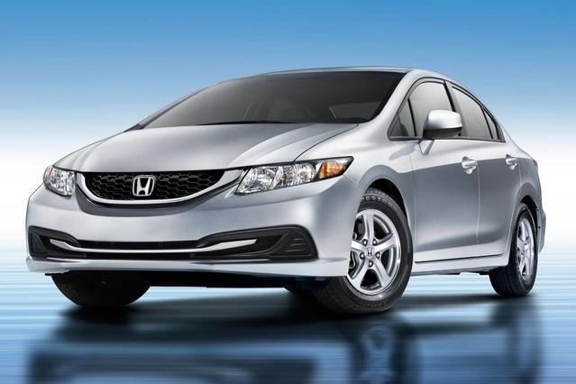 2013 Honda Civic LX 2dr Car Slide 0
