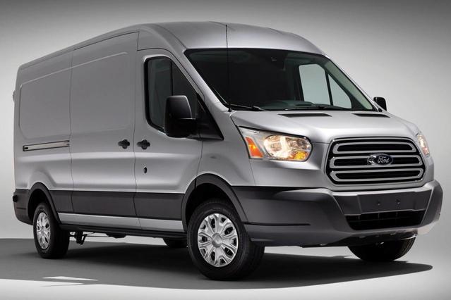 "2017 Ford Transit Van T-150 148"" LOW RF 8600 GVWR SWING-OUT RH DR Full-size Cargo Van Slide 0"