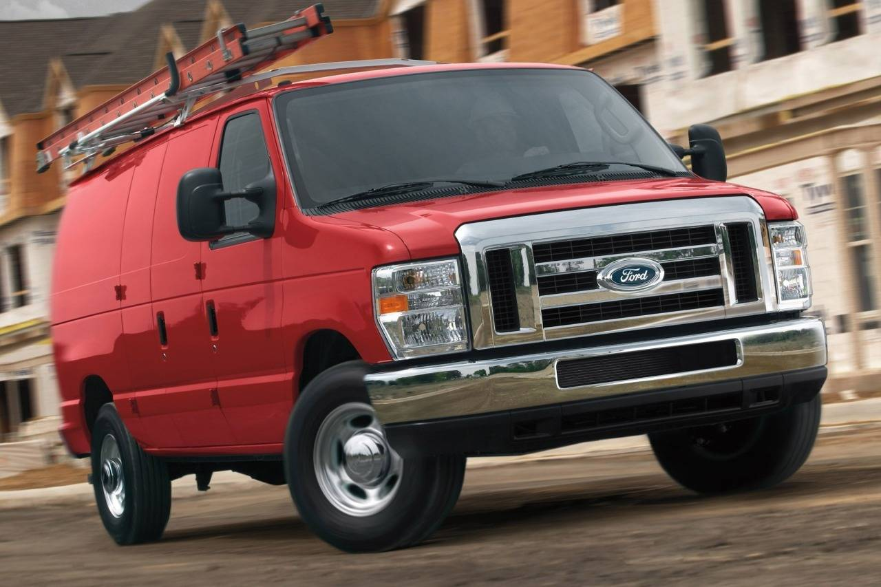 2014 Ford E-150 COMMERCIAL Full-size Cargo Van Slide 0