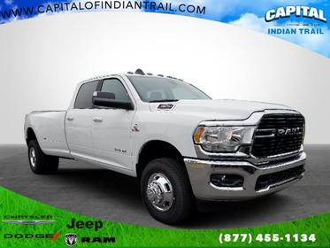 Bright White Clearcoat 2019 Ram 3500 Big Horn 4x4 Crew Cab 8' Box Indian Trail NC