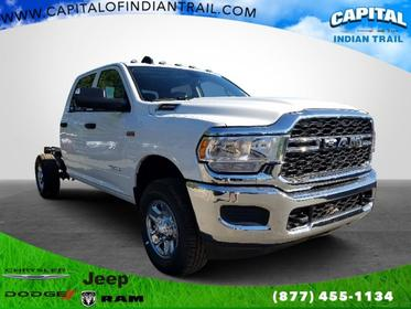 Bright White Clearcoat 2019 Ram 3500 Chassis Cab TRADESMAN Crew Cab Chassis-Cab Indian Trail NC