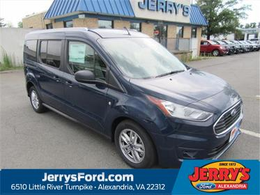 Dark Blue 2019 Ford Transit Connect XLT Alexandria VA