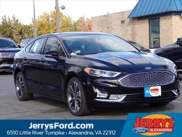 Black 2019 Ford Fusion TITANIUM 4dr Car  VA