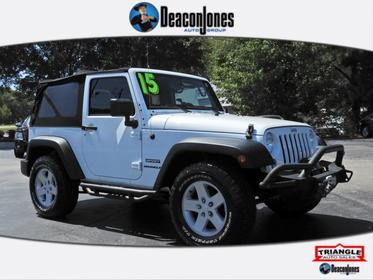 Bright White Clearcoat 2015 Jeep Wrangler SPORT Convertible