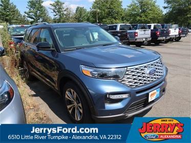 Blue Metallic 2020 Ford Explorer Platinum Sport Utility Leesburg VA