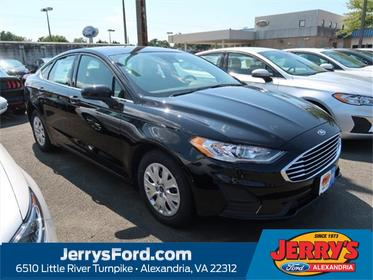 Black 2019 Ford Fusion S 4dr Car  VA