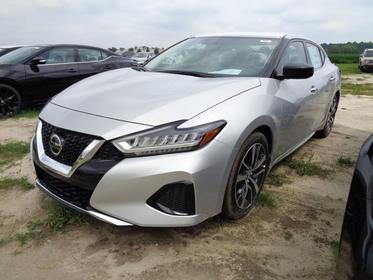 Brilliant Silver Metallic 2019 Nissan Maxima S 4dr Car Goldsboro NC