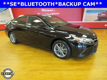 Midnight Black Metallic 2016 Toyota Camry SE 4dr Car Manassas VA
