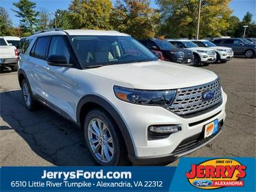 White 2020 Ford Explorer Limited SUV  VA