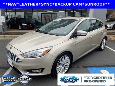 White Gold Metallic 2018 Ford Focus TITANIUM Hatchback Manassas VA