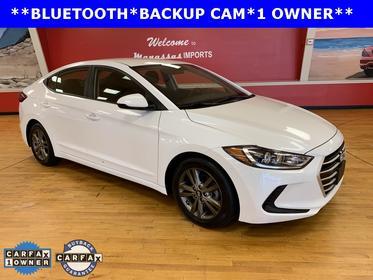 Quartz White Pearl 2018 Hyundai Elantra SEL 4dr Car Manassas VA