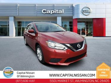 Maroon 2016 Nissan Sentra SV 4dr Car Hillsborough NC