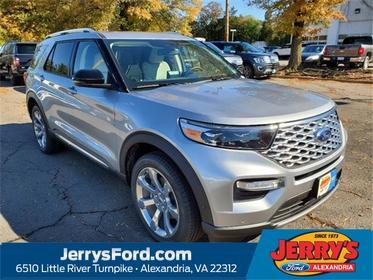 Silver Metallic 2020 Ford Explorer PLATINUM SUV  VA