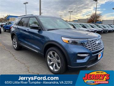 Blue Metallic 2020 Ford Explorer Platinum SUV  VA