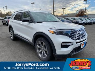 White 2020 Ford Explorer PLATINUM SUV  VA