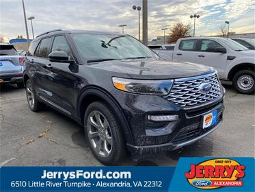 Black Metallic 2020 Ford Explorer Platinum SUV Alexandria VA