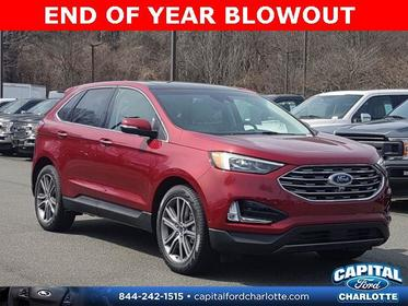Ruby Red Metallic Tinted Clearcoat 2019 Ford Edge TITANIUM 4D Sport Utility Charlotte NC