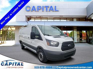 Oxford White 2015 Ford Transit-250  3D Low Roof Cargo Van Raleigh NC