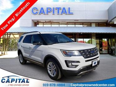Oxford White 2017 Ford Explorer XLT 4D Sport Utility Raleigh NC