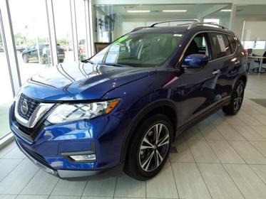 Caspian Blue Metallic 2019 Nissan Rogue SV Sport Utility Goldsboro NC