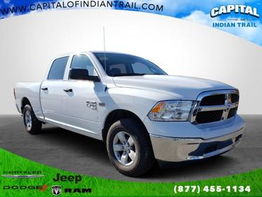 Bright White Clearcoat 2019 Ram 1500 Classic Tradesman 4x4 Crew Cab 6'4 Box Indian Trail NC