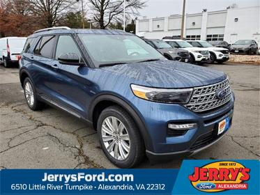 Blue Metallic 2020 Ford Explorer LIMITED SUV Alexandria VA