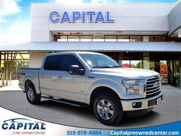 Ingot Silver Metallic 2016 Ford F-150 XLT 4D SuperCrew Raleigh NC