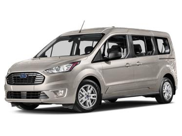 Silver 2019 Ford Transit Connect Wagon Titanium Full-size Passenger Van Huntington NY