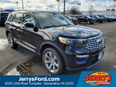 Black Metallic 2020 Ford Explorer PLATINUM SUV  VA