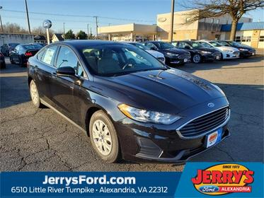 Black 2020 Ford Fusion S 4dr Car  VA