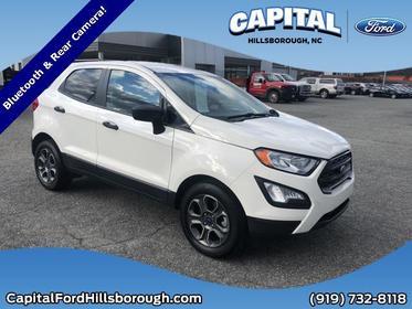 Diamond White 2018 Ford Ecosport S SUV Garner NC