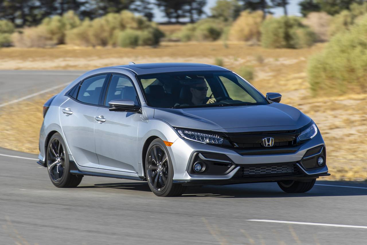 2020 Honda Civic Coupe SPORT 2dr Car Slide 0