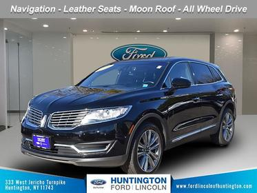Black Velvet 2016 Lincoln MKX Reserve SUV Huntington NY