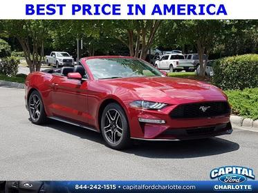 Ruby Red Metallic Tinted Clearcoat 2019 Ford Mustang ECOBOOST PREMIUM 2D Convertible Charlotte NC