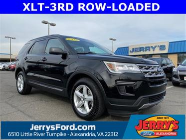 Shadow Black 2018 Ford Explorer XLT SUV  VA