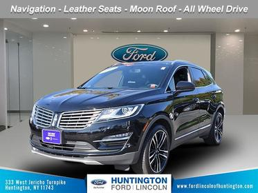 Diamond Black Metallic 2017 Lincoln MKC RESERVE SUV Huntington NY