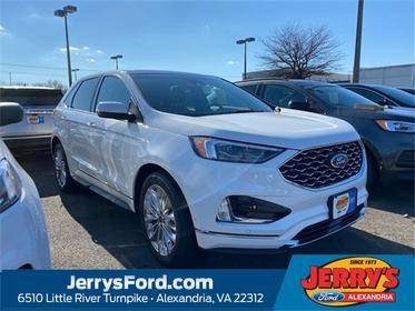 White 2020 Ford Edge TITANIUM SUV  VA