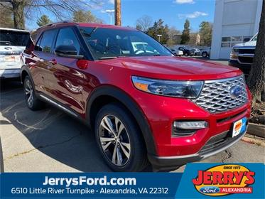 Red Metallic 2020 Ford Explorer PLATINUM SUV  VA