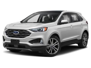 Star White Metallic Tri-Coat 2020 Ford Edge SEL SUV Huntington NY