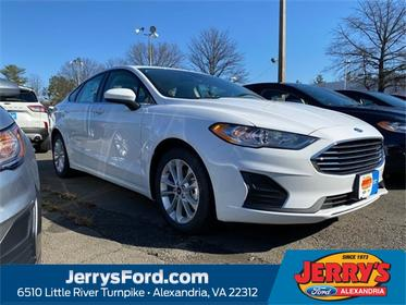 Oxford White 2020 Ford Fusion Hybrid SE 4dr Car  VA