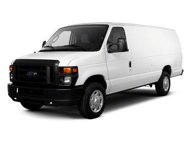 White 2011 Ford Econoline Cargo Van COMMERCIAL Full-size Cargo Van