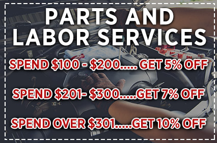 Parts & Labor Service Discounts